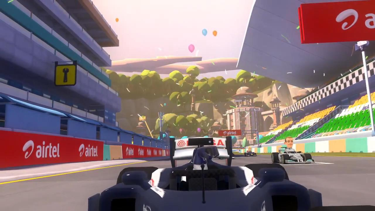 F1 Race Stars India Fly Through Trailer screenshot 1