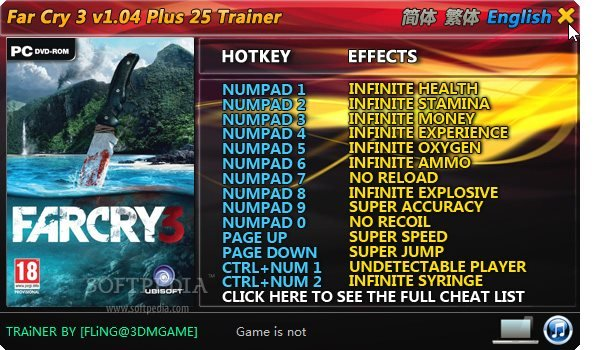 Screens Zimmer 9 angezeig: far cry 3 pc trainer