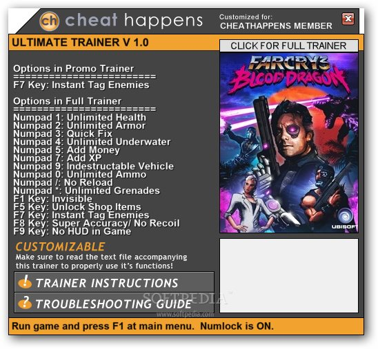 Far cry 3 blood dragon 1 trainer here you can view a list of the
