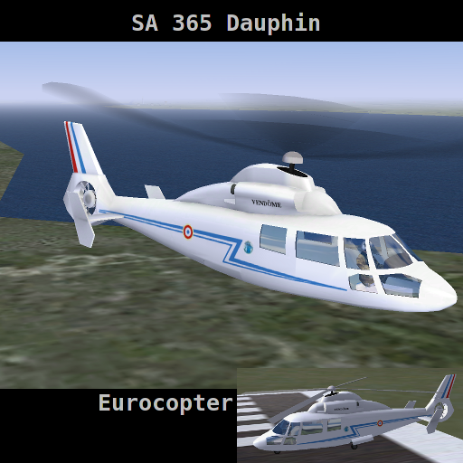 FlightGear Addon - SA 365 Dauphin screenshot 1