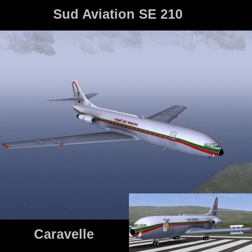 FlightGear Addon - Sub Aviation SE 210 Caravelle screenshot 1