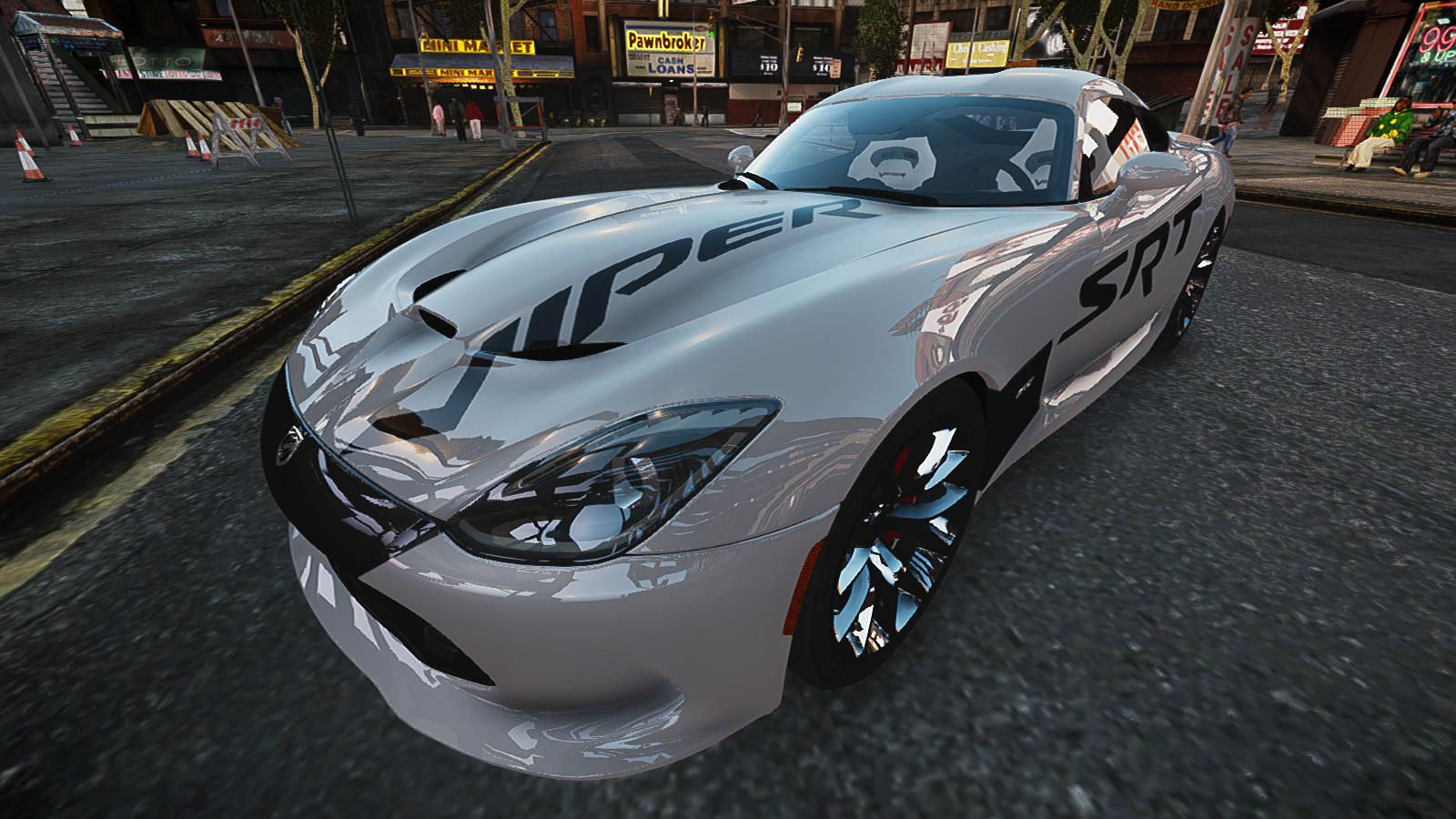 GTA IV Addon - 2013 SRT Viper Paintjob screenshot 2