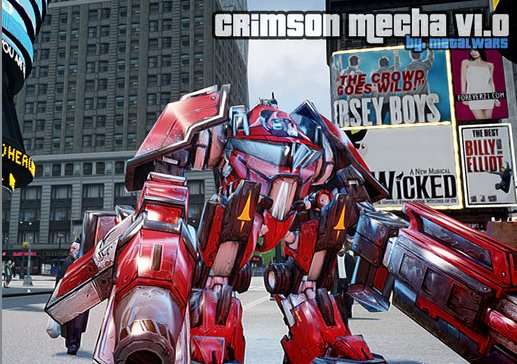 GTA IV Addon - Crimson Mecha screenshot 1