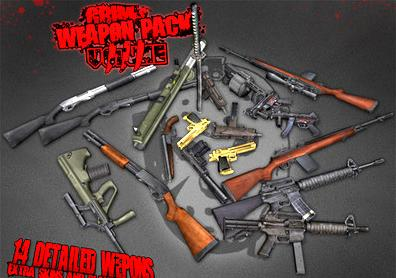 Screenshot 1 of gta iv addon grim s weapon pack for gta iv and eflc