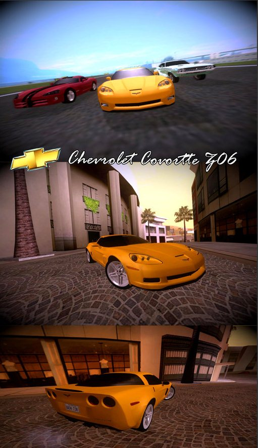 GTA: San Andreas Addon -	2005 Chevrolet Corvette Z06 screenshot 1