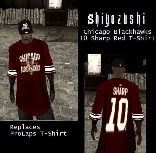 GTA: San Andreas Addon - Chicago Blackhawks 10 Sharp Red T-Shirt screenshot 1