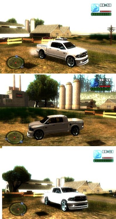 GTA: San Andreas Addon -	Dodge Ram Bianco 2012 screenshot 1