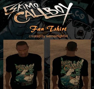 GTA: San Andreas Addon -	Eskimo Callboy Fan Tshirt screenshot 1