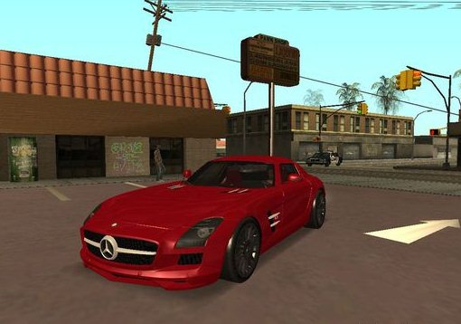 GTA: San Andreas Addon -	Mercedes-Benz SLS AMG TT Black Revel screenshot 1