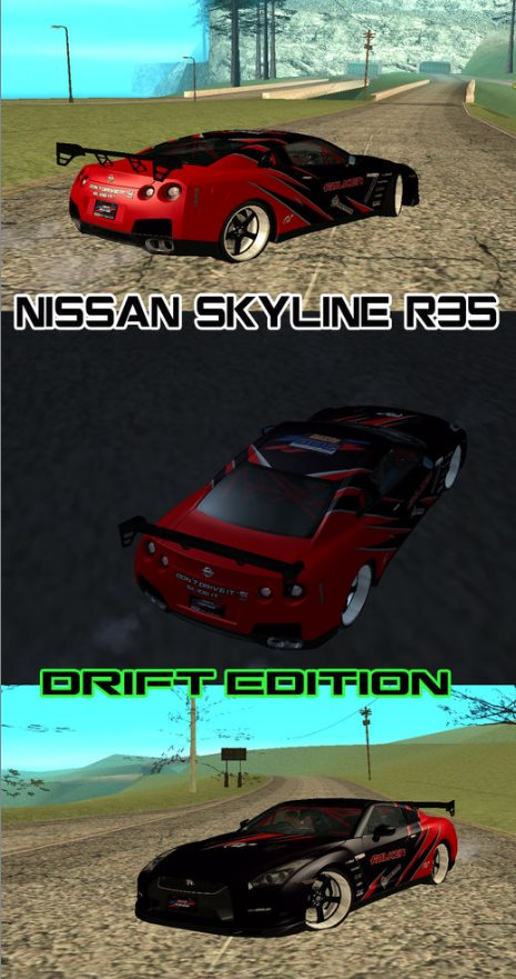 GTA: San Andreas Addon - Nissan Skyline R35 Drift Tune screenshot 1