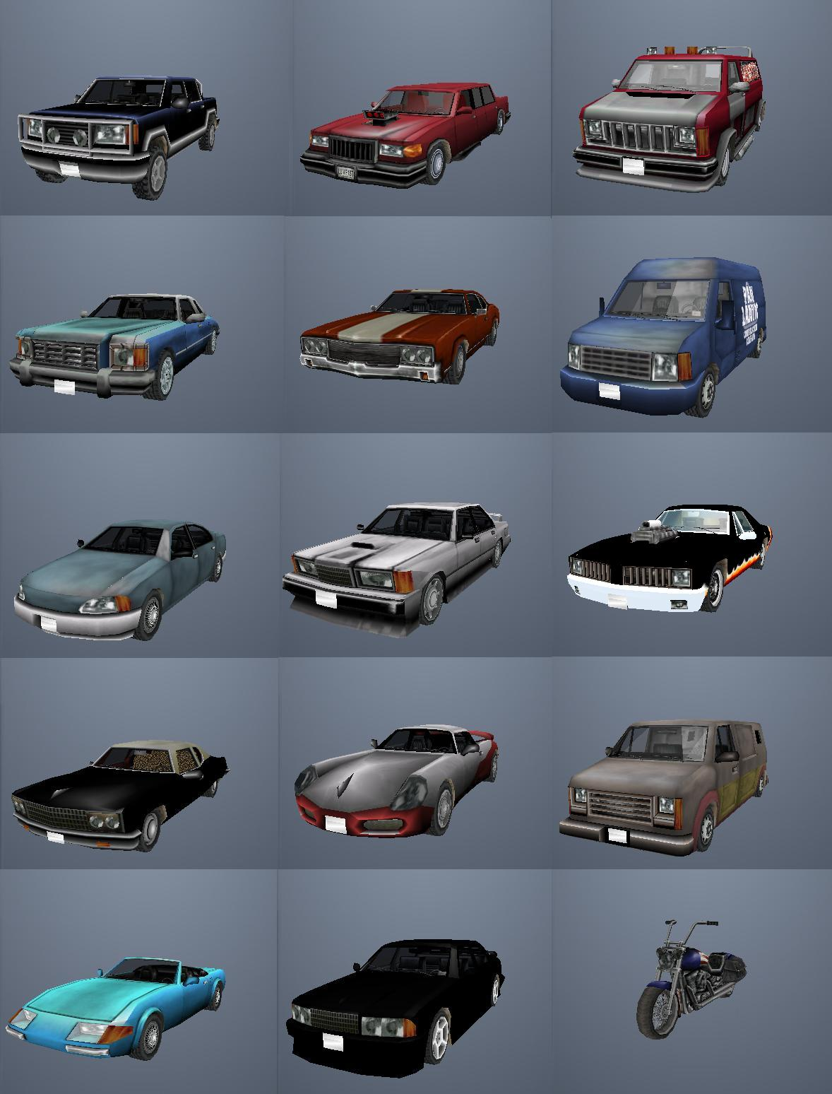 Screen Shots for Real Cars Mod :