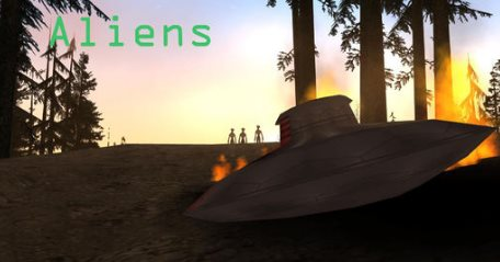 This mod you ll be able to add a new crashed alien ufo in gta sa