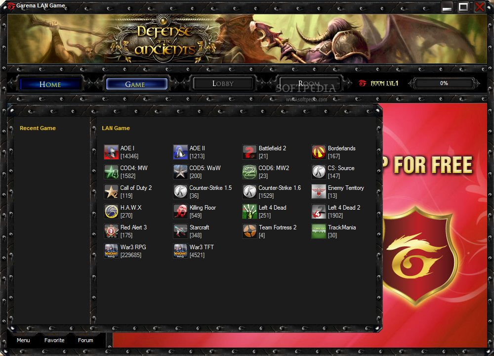 Garena hi?n nay h? tr? r?t nhi?u game (Blackshot, Warcraft 3, Counter Strik