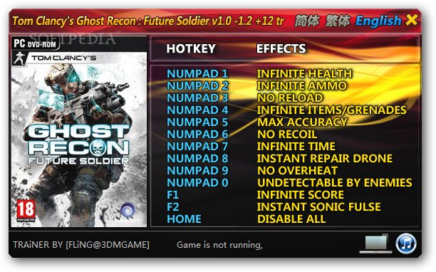 Tom Clancy Future Soldier Cheats
