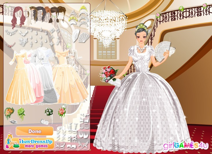 Girl games glittery kit this is you chance to dress up a bride