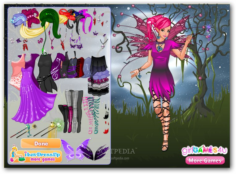 Gothic Fairy Dress Up screenshot 2