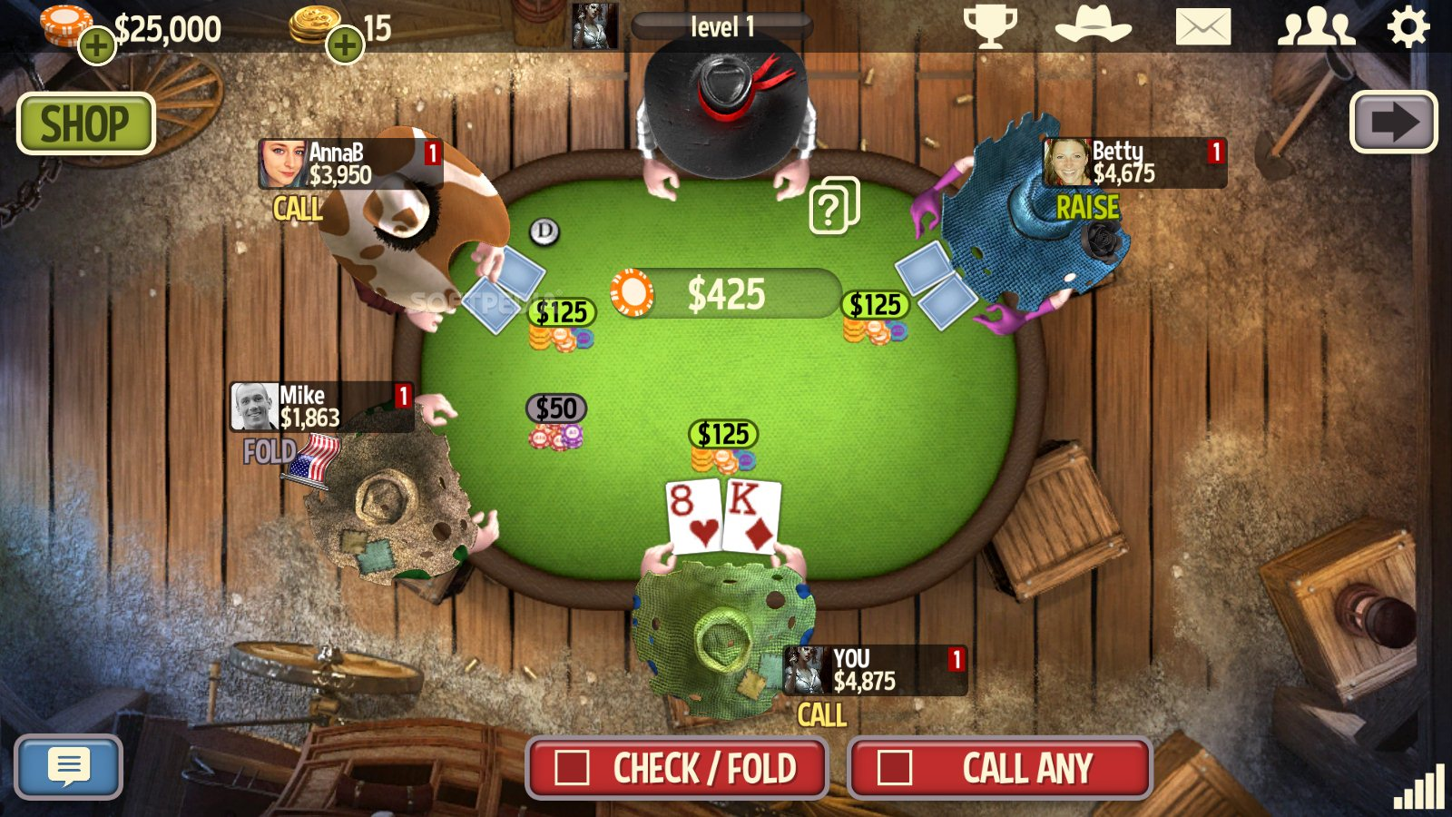 Governor poker free download