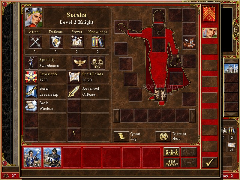 Patch heroes of might and magic 2 character