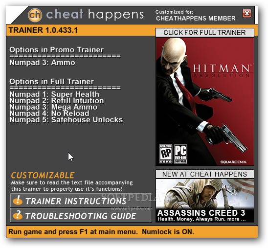 hitman absolution 1 trainer download. Black Bedroom Furniture Sets. Home Design Ideas