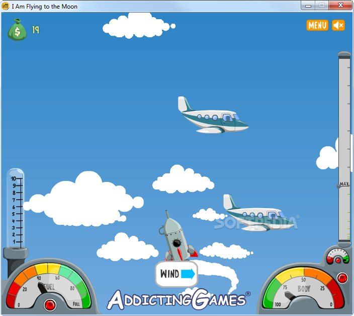 i m flying to the moon game