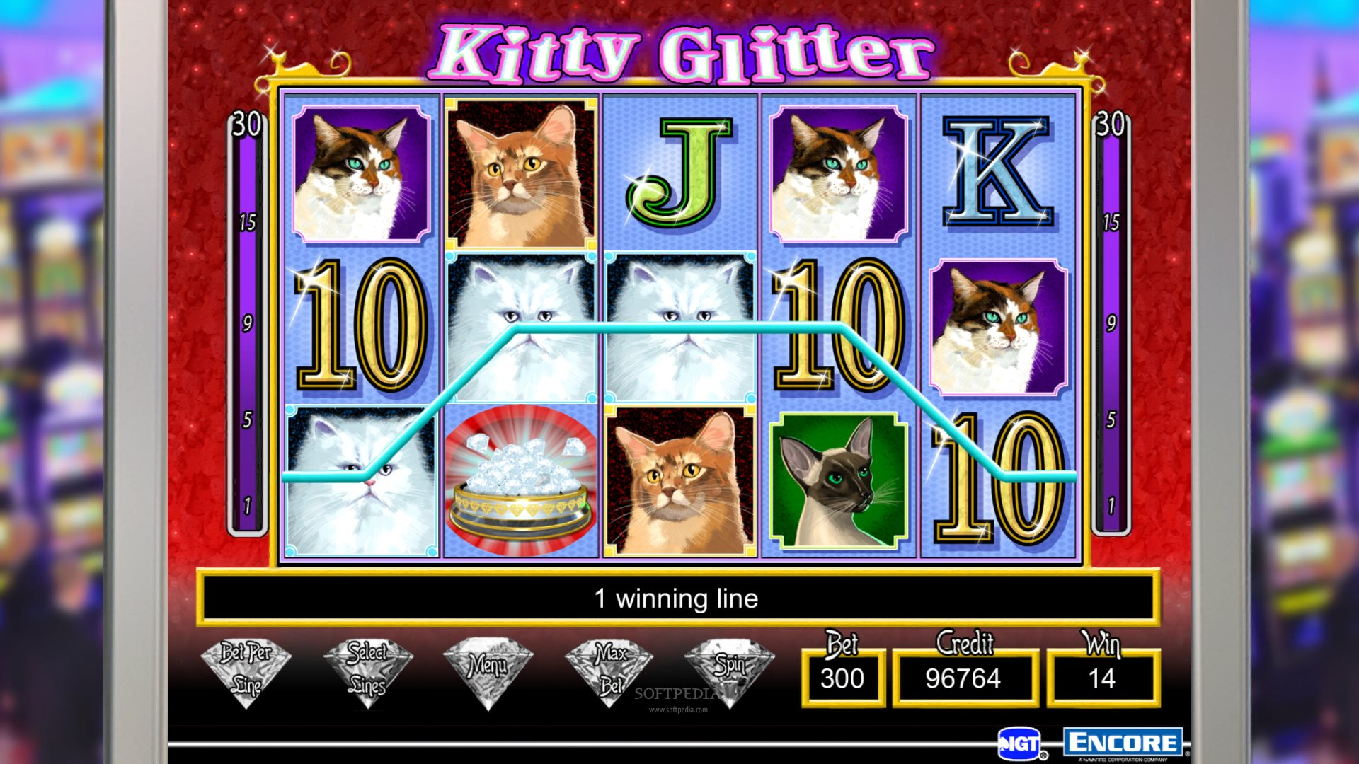 glitter slot machine
