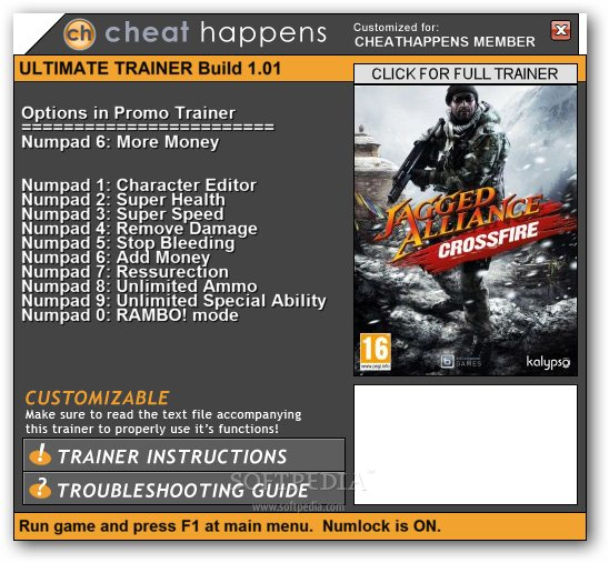 Jagged Alliance: Crossfire +1 Trainer