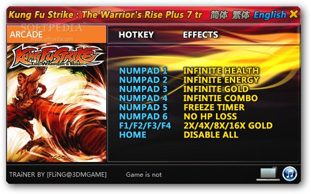 Kung Fu Strike: The Warrior's Rise +7 Trainer for 1.0 screenshot 1
