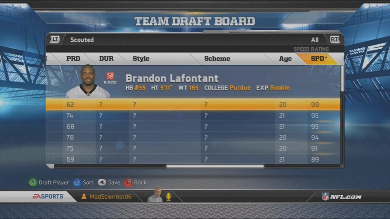 draft guide tips and madden nfl 13 connected career scouting and draft