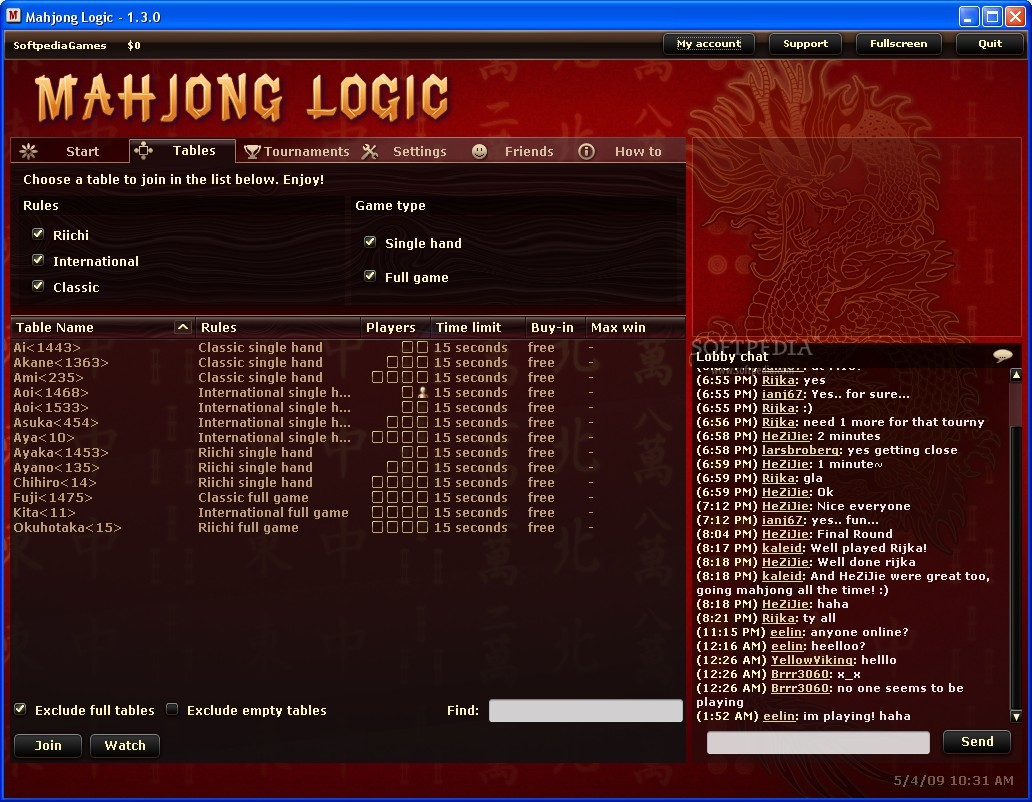 Mahjong Logic Client screenshot 1