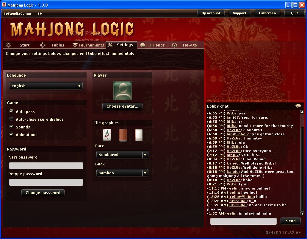 Mahjong Logic Client screenshot 2
