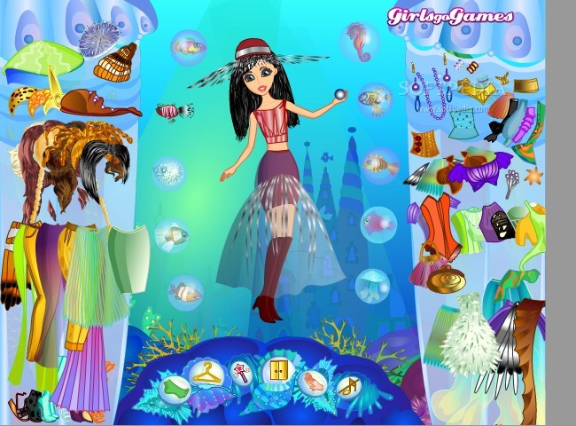 mermaid dress up games for girls - Dress Yp