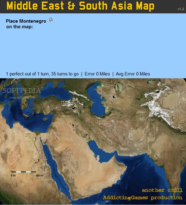 middle east western asia map quiz