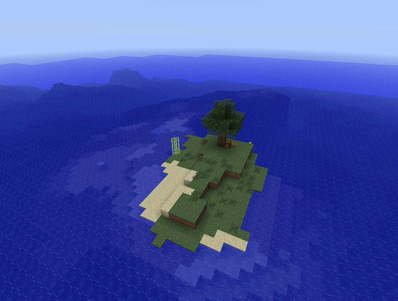 how to play survival island minecraft