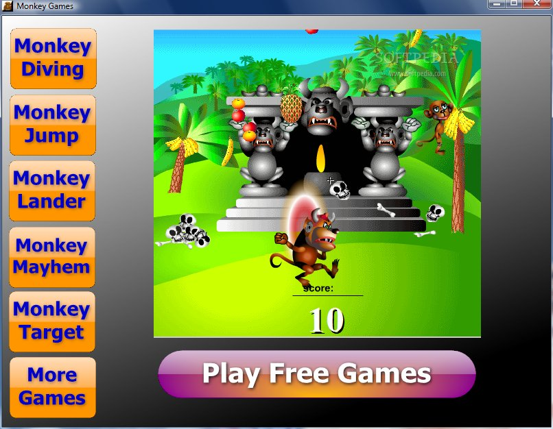Balloon Pop Monkey Game Monkey Balloon Game