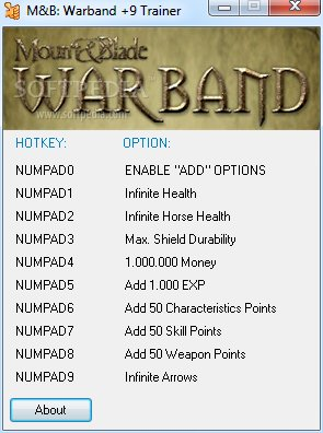 mount and warblade cheats