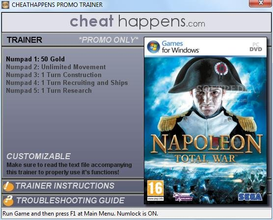 1Napoleon Total War Trainer