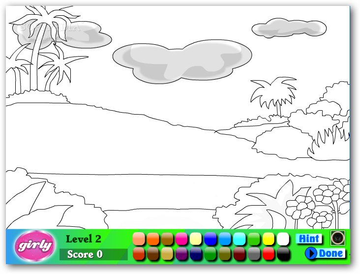 Galerry nature coloring games online