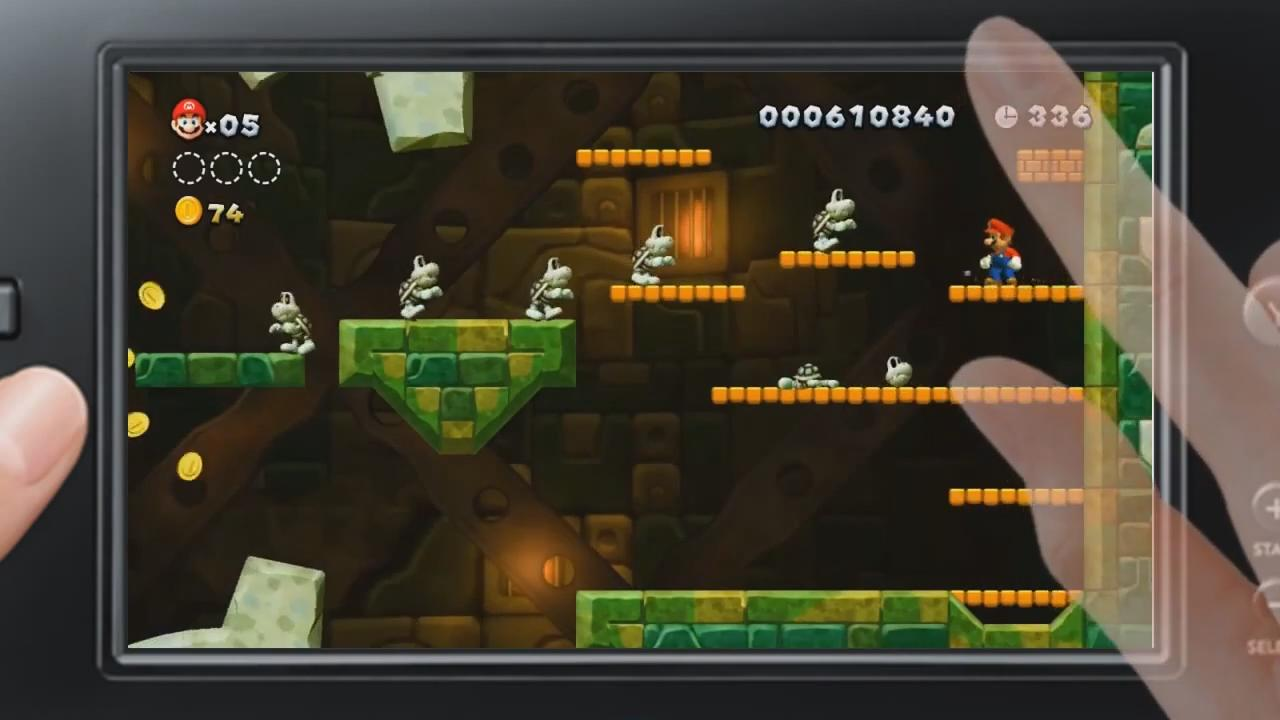 New Super Mario Bros. U: GamePad Gameplay Trailer screenshot 5