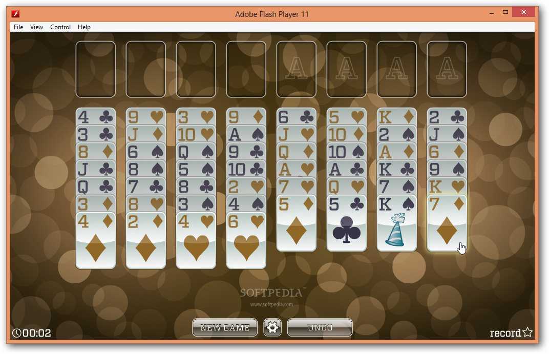 New Years Freecell Solitaire screenshot 1