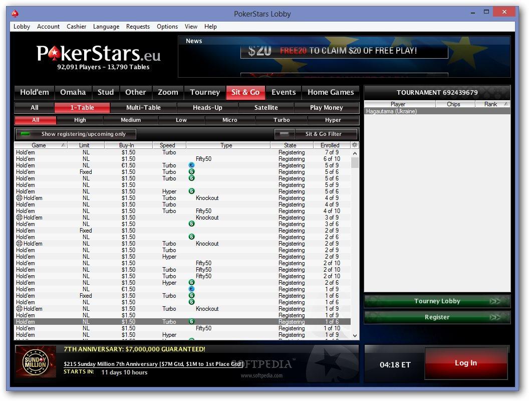 Pokerstars casino client download