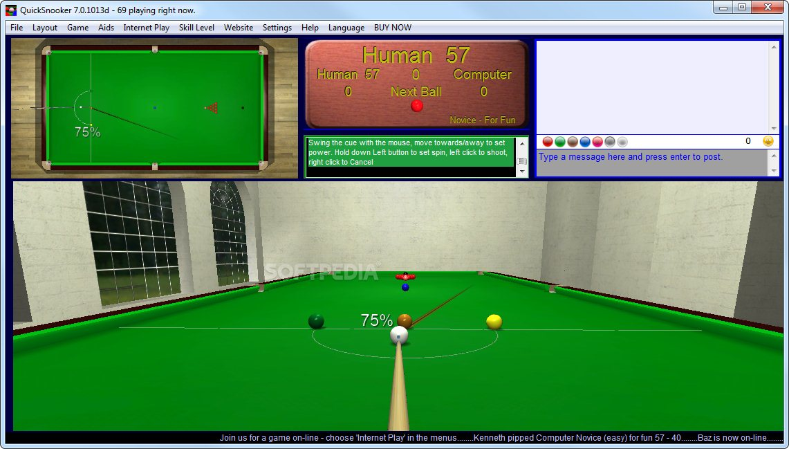 QuickSnooker screenshot 1