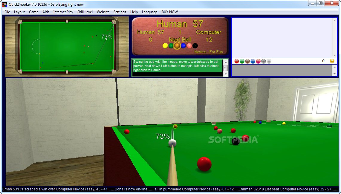 QuickSnooker screenshot 3