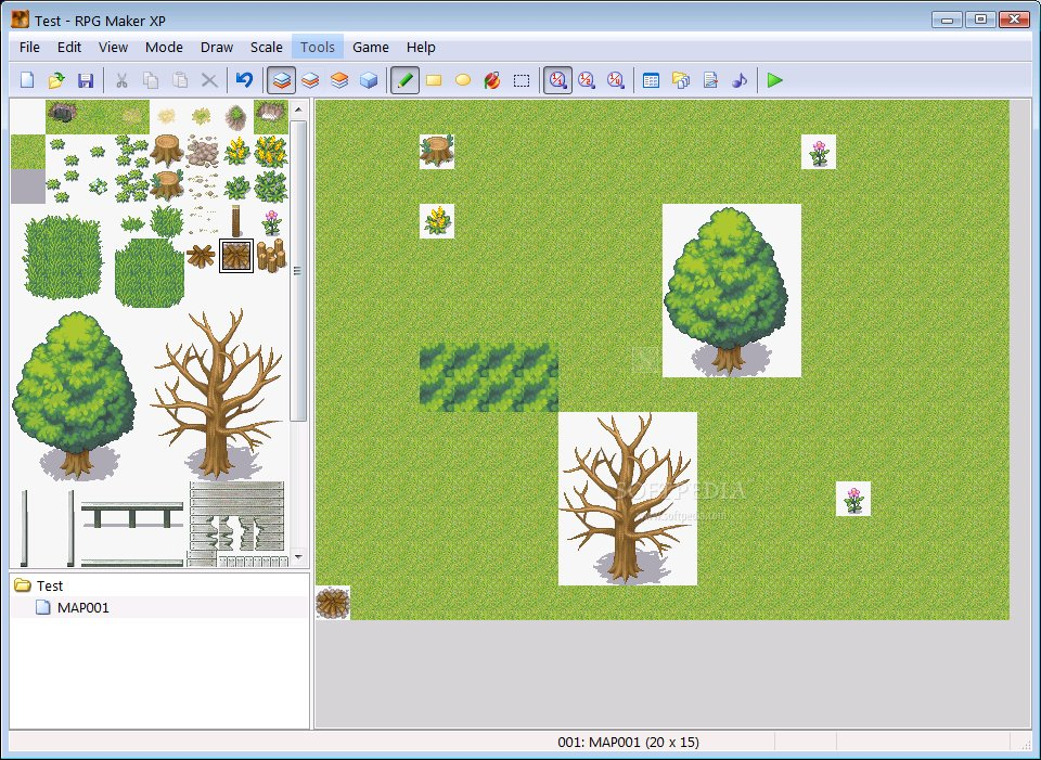 how to change rpg maker xp game window
