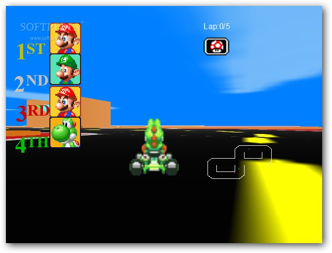 Racing Mario screenshot 4