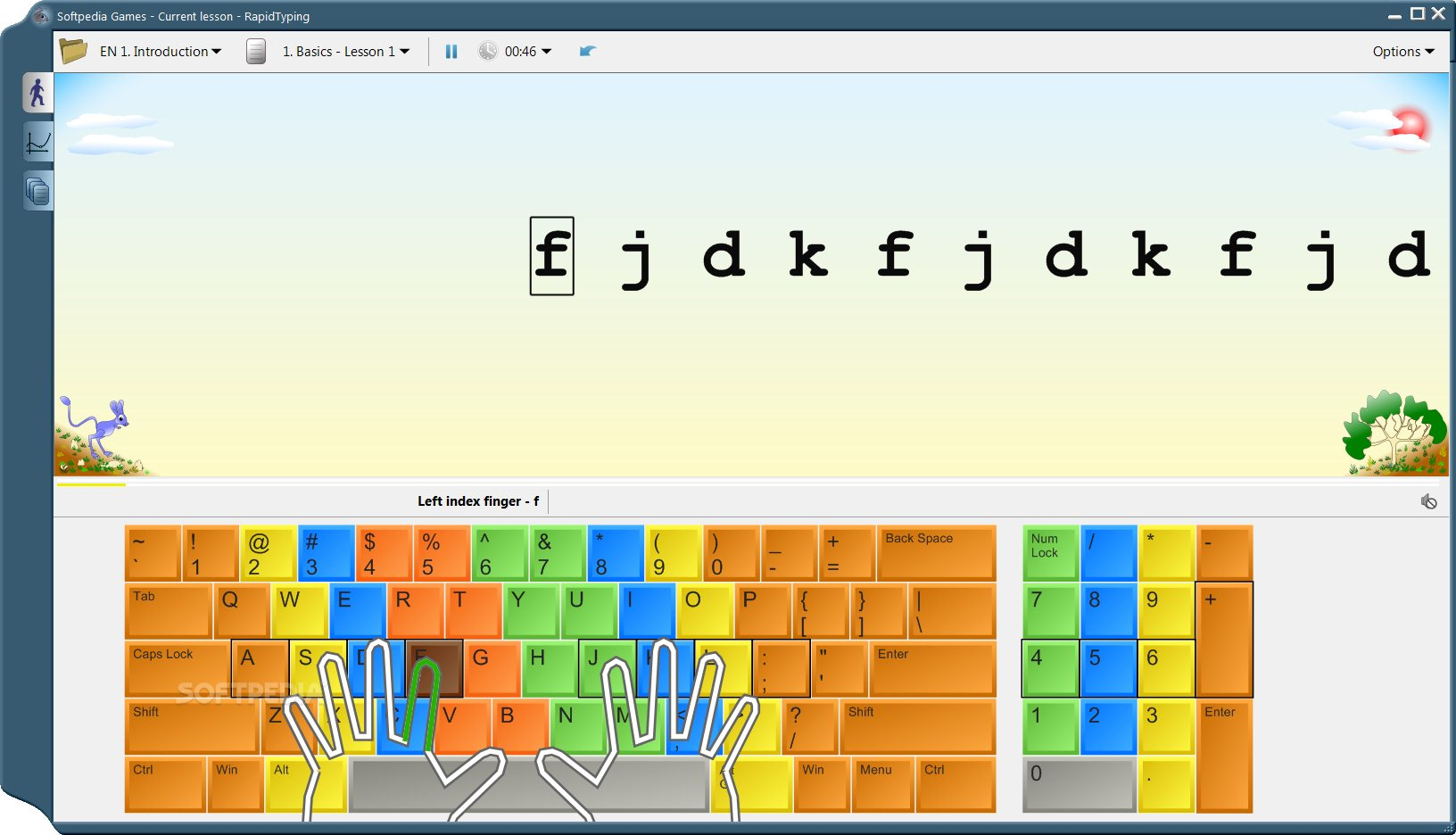 RapidTyping Tutor screenshot 1