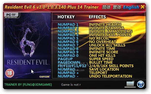 Resident Evil 3 Trainer