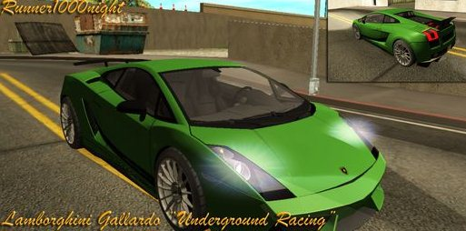 GTA: San Andreas Addon -	Underground Racing Lamborghini Gallardo screenshot 1