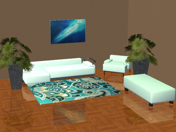 Sims 2 Addon - Camino Bedroom - Light Blue screenshot 1