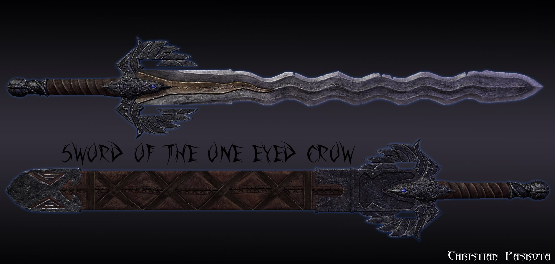 Skyrim Mod - The Sword Of The One Eyed Crow screenshot 1