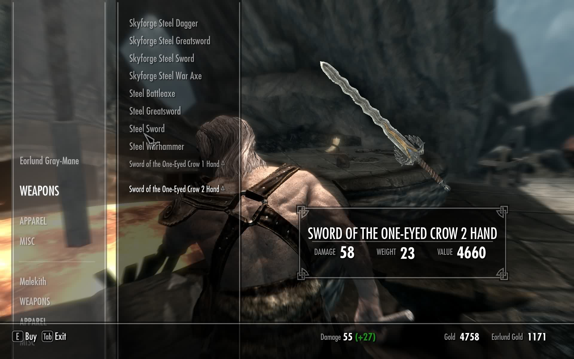 Skyrim Mod - The Sword Of The One Eyed Crow screenshot 6